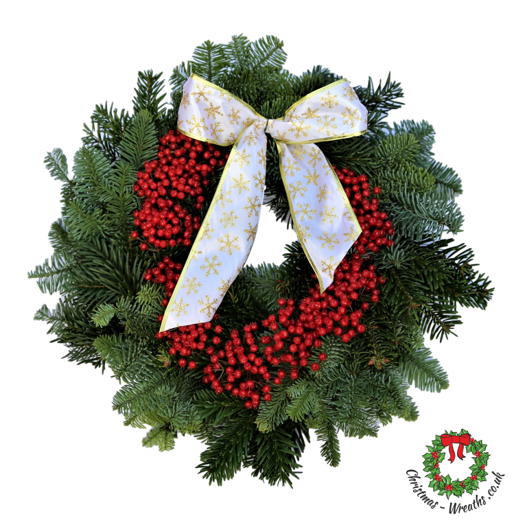Natural-bow-red-decortion-christmas-wreath Tartan
